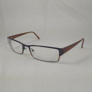 POLICE Eyeglass Frames V2968 Brown Bronze Metal